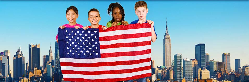 us immigration us flag children